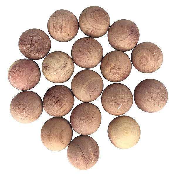 Lot de 18 Billes Antimites en Bois de Cèdre Rouge
