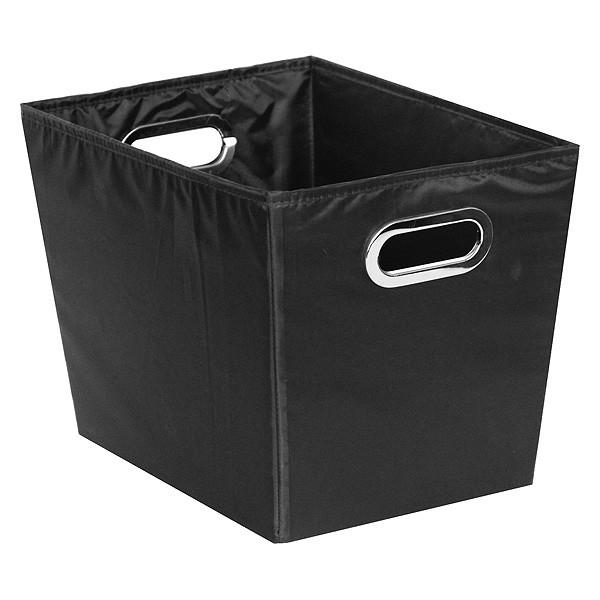 Bac de rangement en tissu noir grand modèle