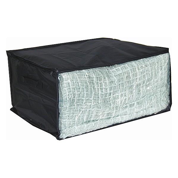 Housse de rangement pour v tements en tissu avec fen tre noir for Housse de rangement