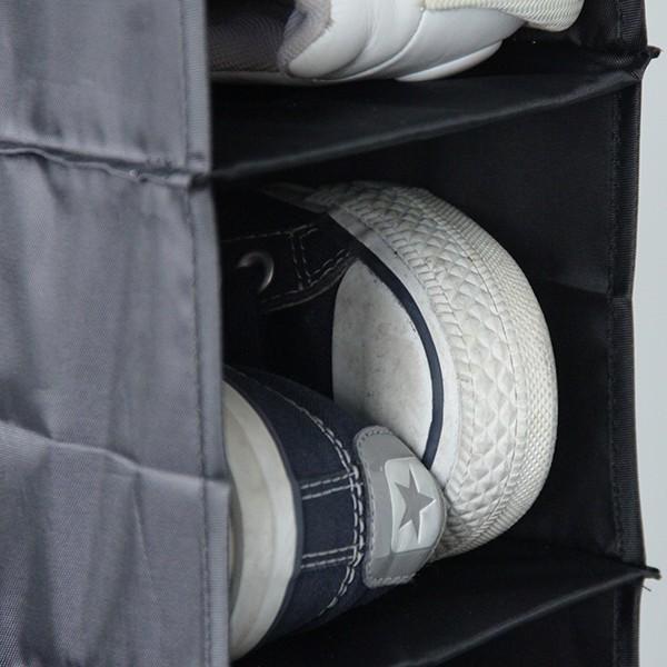 Range chaussures à suspendre 10 paires de chaussures noire