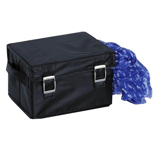 Malle de rangement tissu avec couvercle noire petit modèle