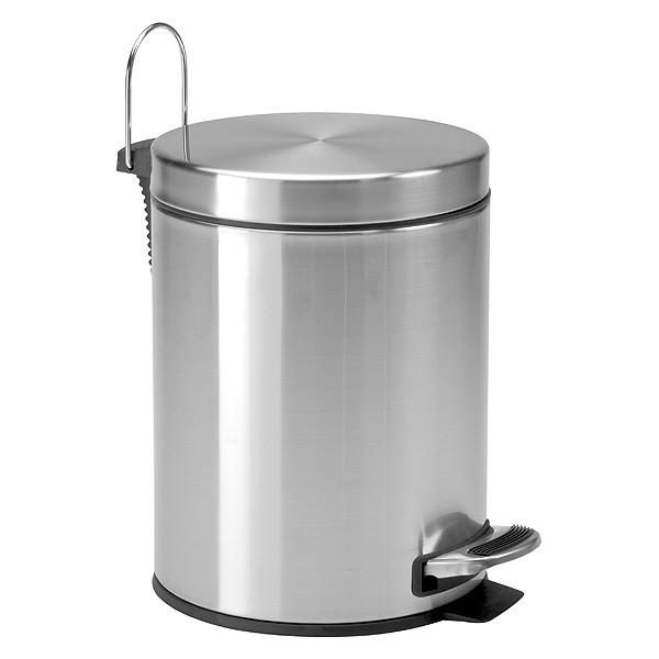 Poubelle à pédale inox 5 Litres pour salle de bain
