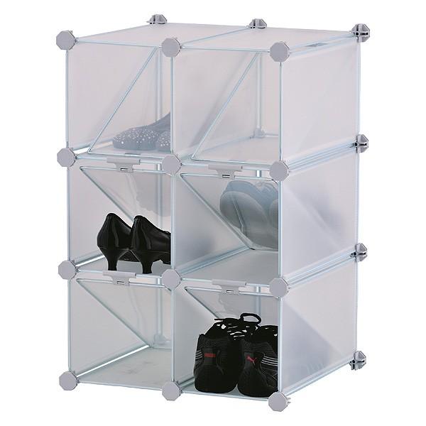 Rangement à chaussures modulable 6 casiers