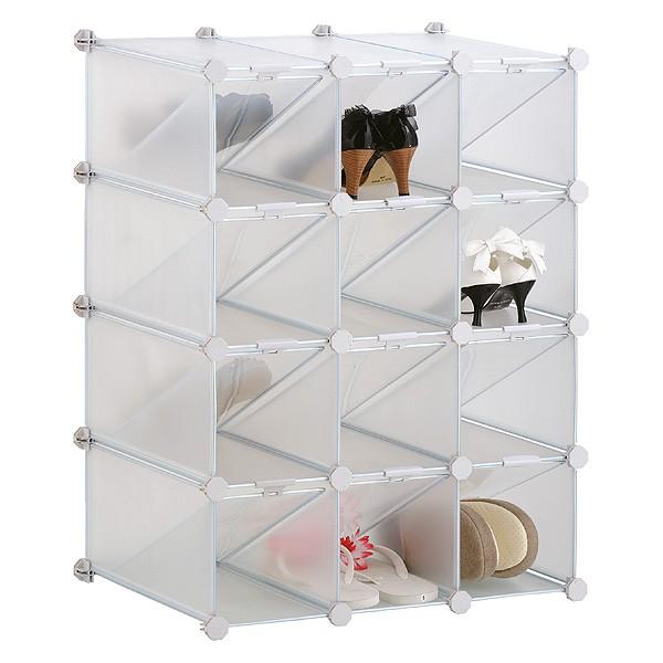 Rangement à chaussures modulable 12 casiers pour dressing