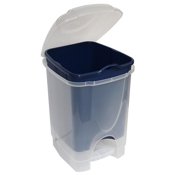 Poubelle à pédale 6 Litres pour la Salle de bain Bleu