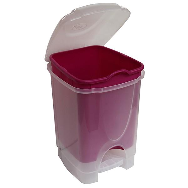 Poubelle à pédale 6 Litres pour la Salle de bain Violet