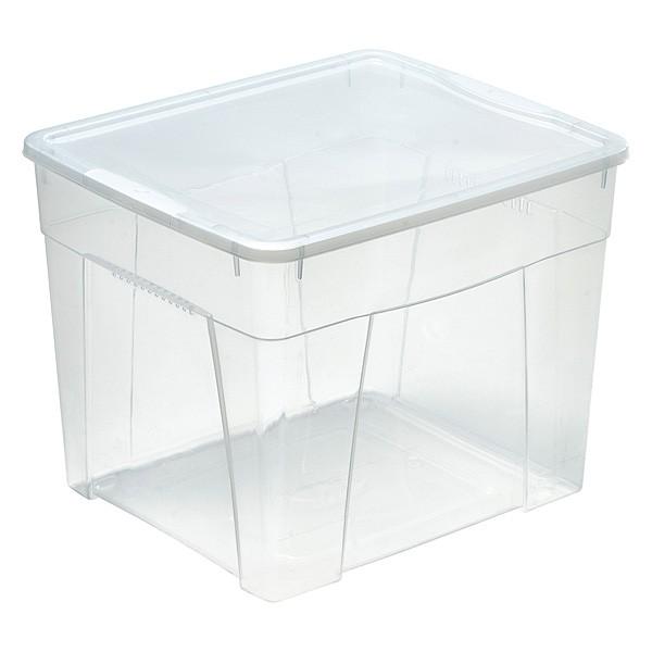 Boîte de rangement avec couvercle pour vêtements 34,5 Litres