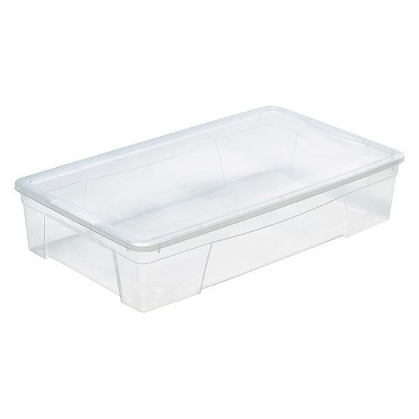 Boîte de rangement avec couvercle pour couvertures 34 Litres
