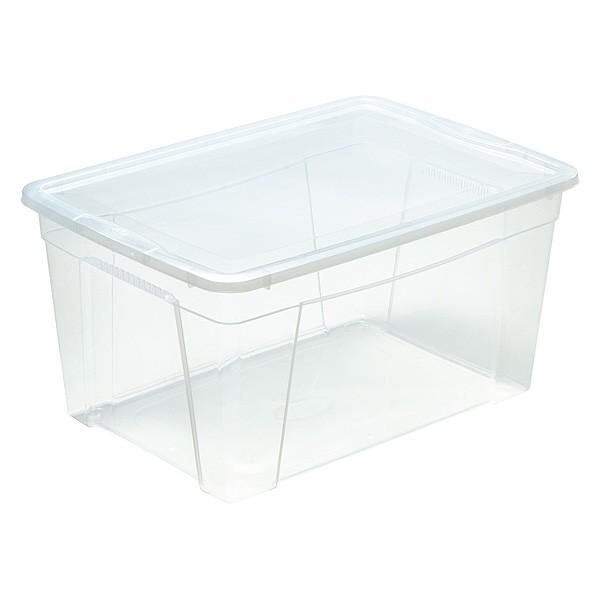 Boîte de Rangement avec couvercle pour couvertures et couettes 43 Litres