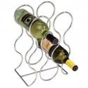 Porte-bouteilles de Vin rond à poser Chromé Interdesign