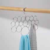 Cintre Porte Echarpes Foulards Interdesign 18 Boucles de Rangement