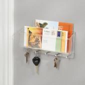 Porte Courrier Clés Mural acrylique interdesign