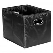 Panier de rangement en tissu noir cubique grand modèle