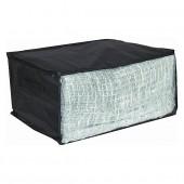 Housse de rangement pour vêtements en tissu avec fenêtre noir