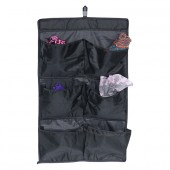 Organiseur de porte en tissu 6 pochettes noir