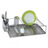 Egouttoir à vaisselle en Métal Chromé Design Grand Modèle