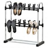 Support de rangement pour chaussures 2 niveaux 24 paires de chaussures