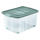 Boîte de Rangement Plastique avec couvercle à roulettes 45 Litres
