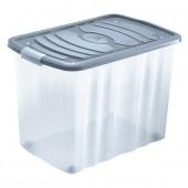 Boîte de Rangement Plastique avec couvercle à roulettes 65 Litres (Simple