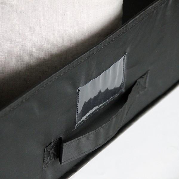Bo te de rangement sous lit tissu avec porte tiquette - Boites de rangement sous lit ...