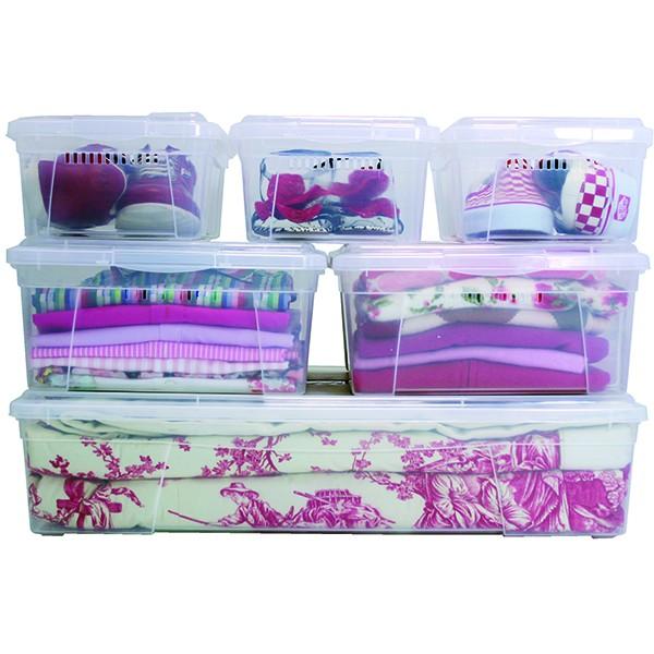 bac de rangement plastique avec couvercle xxl 61 litres. Black Bedroom Furniture Sets. Home Design Ideas