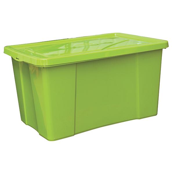 box de rangement plastique 18 l vert. Black Bedroom Furniture Sets. Home Design Ideas